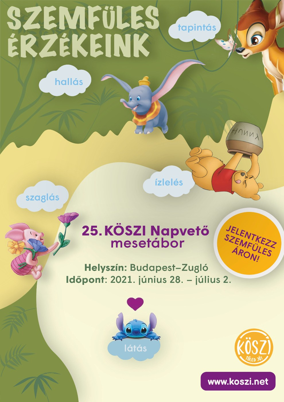 25. KÖSZI Napvető mesetábor plakát 2021