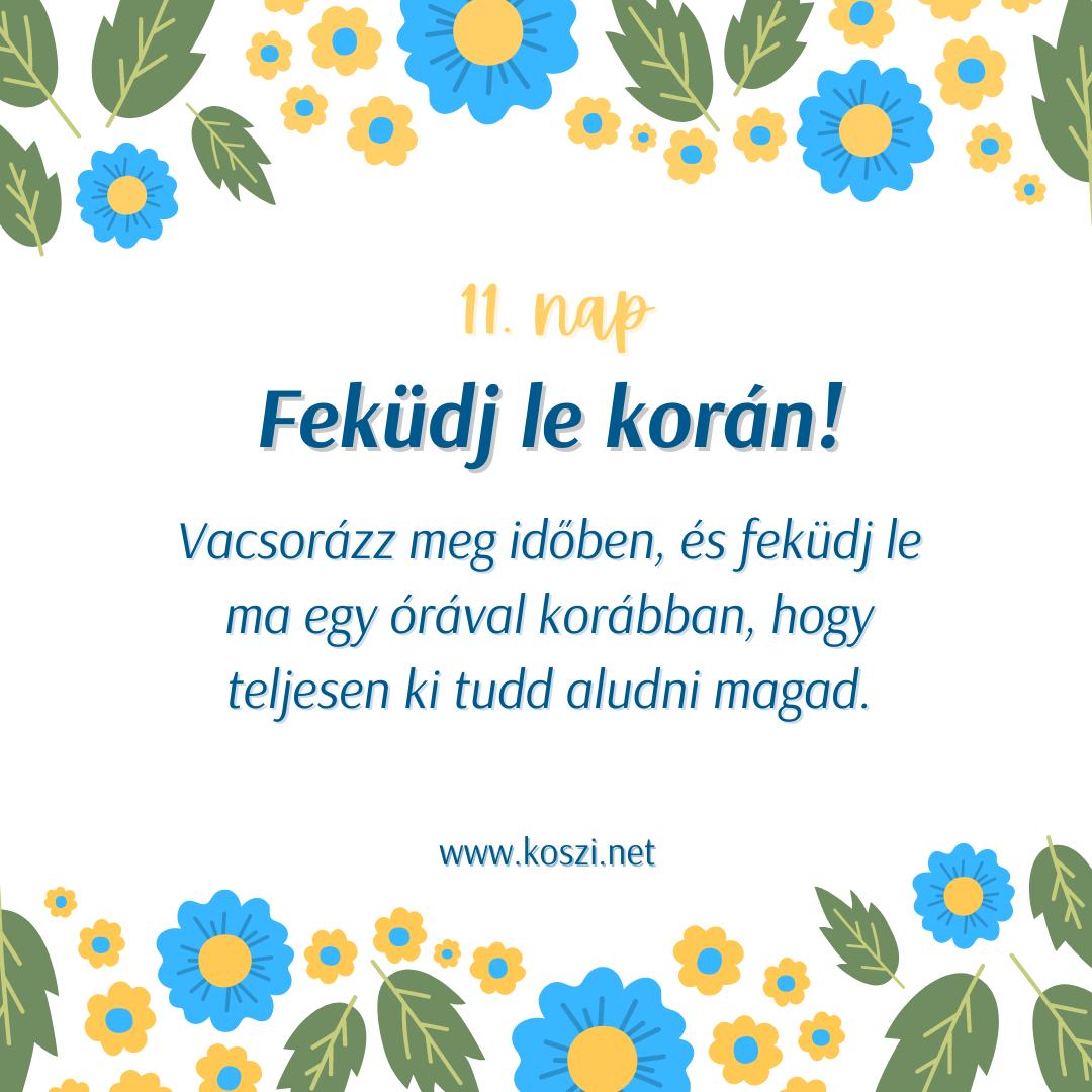 KÖSZI Tavaszi kalendárium 11. nap