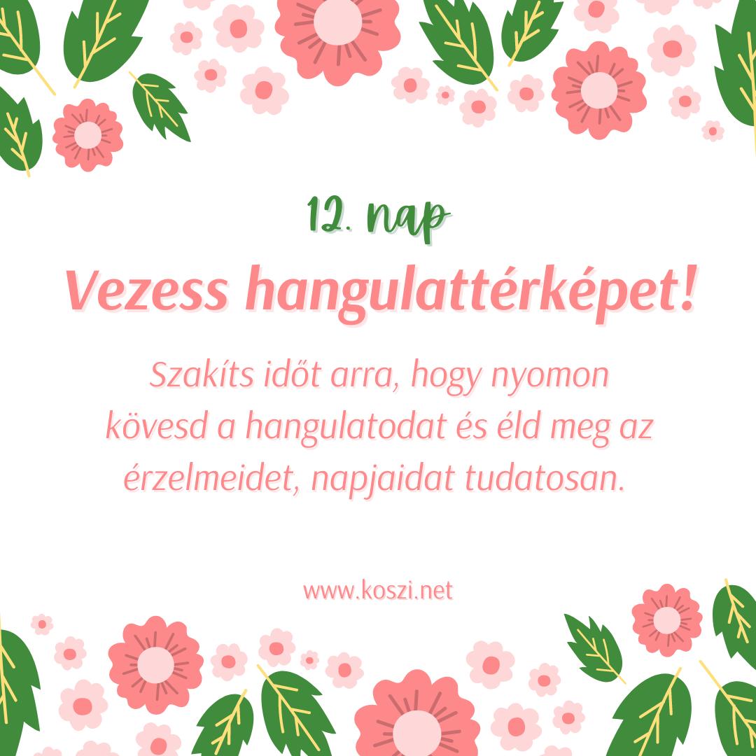 KÖSZI Tavaszi kalendárium 12. nap