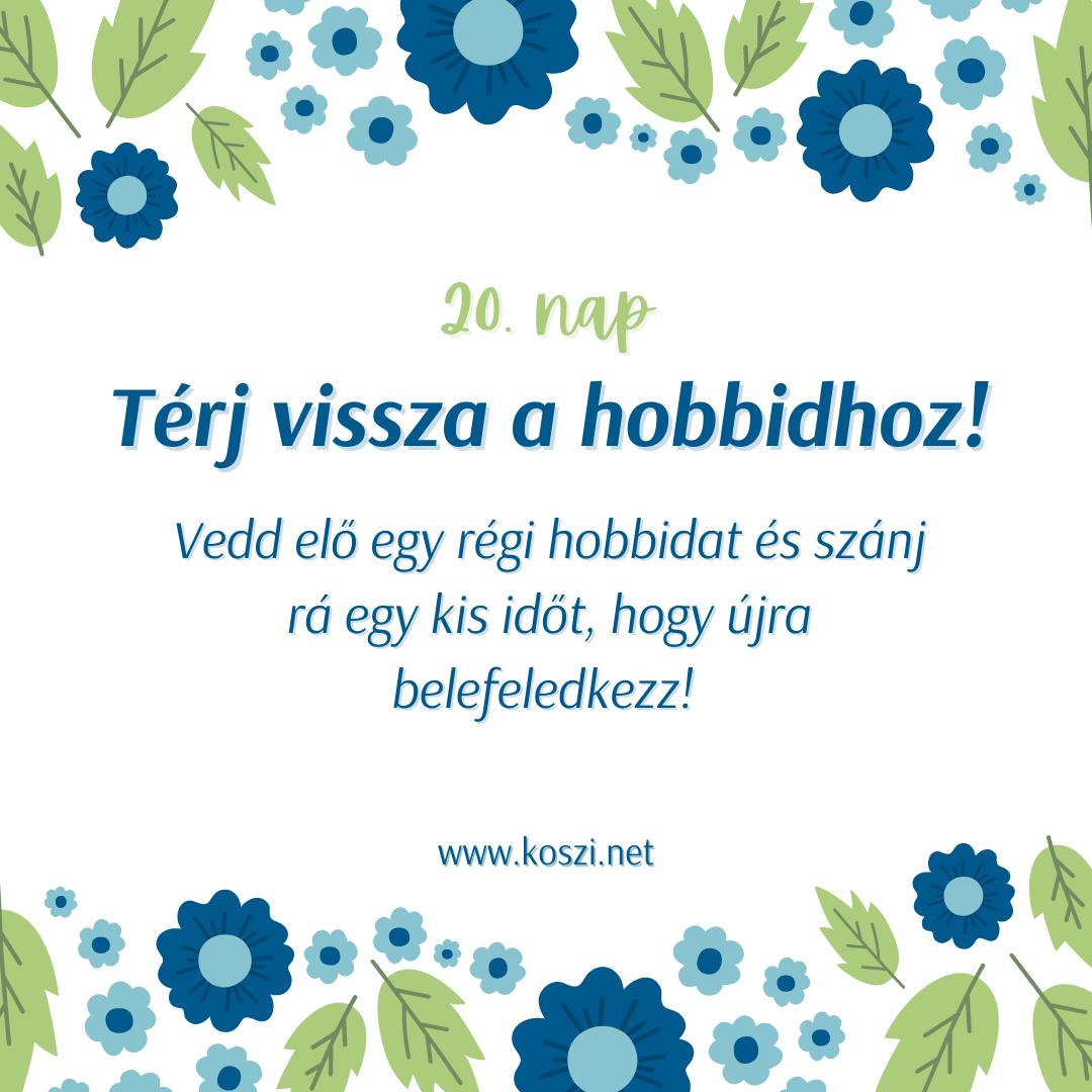 KÖSZI Tavaszi kalendárium 20. nap